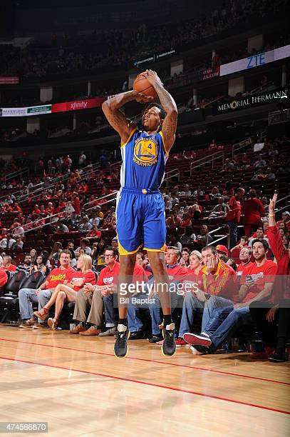 Brandon Rush of the Golden State Warriors shoots against the Houston Rockets in Game Three of the Western Conference Finals during the 2015 NBA...