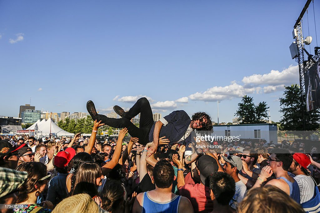 Brandon Scott of Yukon Blonde performs on Day 10 of the RBC Royal Bank Bluesfest on July 14, 2013 in Ottawa, Canada.