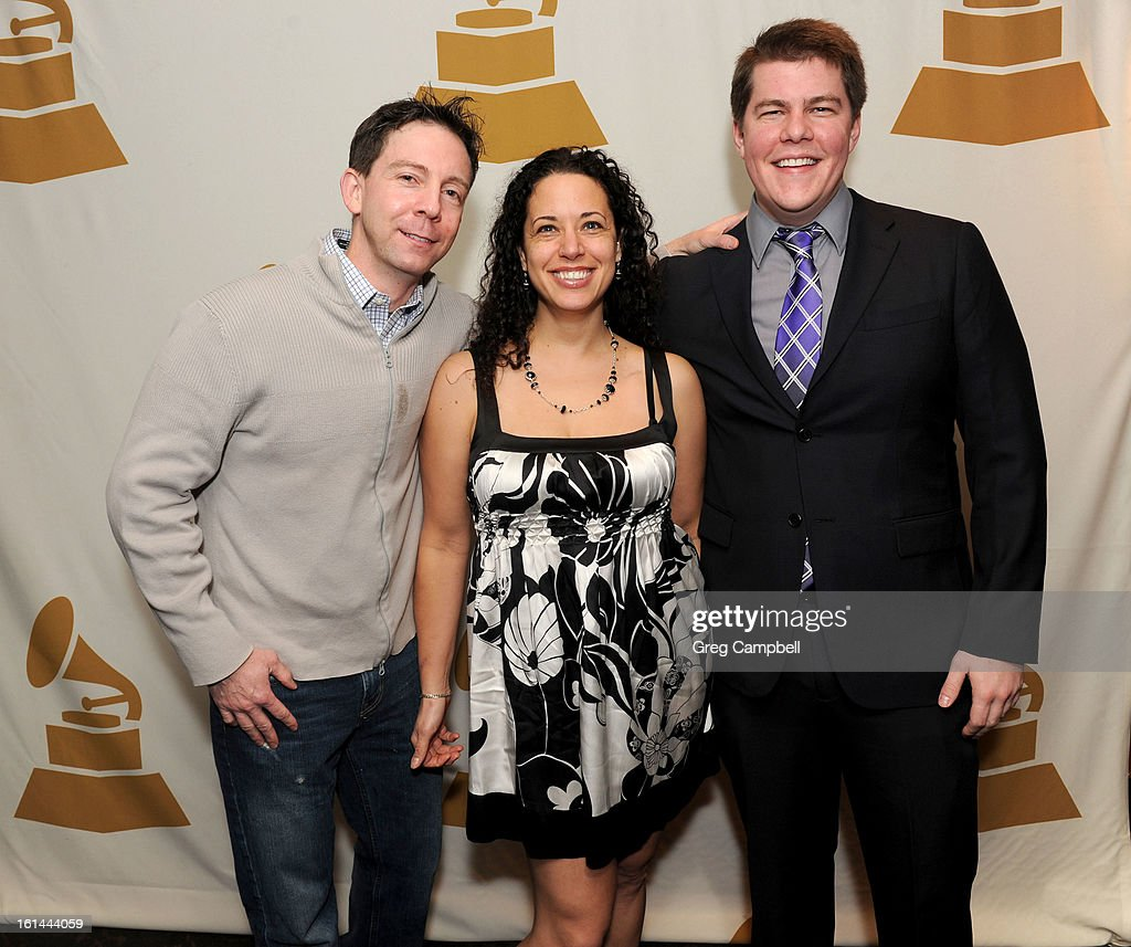 Brandon Stahl, Jessie Furman and Nick Fischetti attend the 55th Annual GRAMMY Awards Telecast Party at Hard Rock Cafe on February 10, 2013 in Chicago, Illinois.