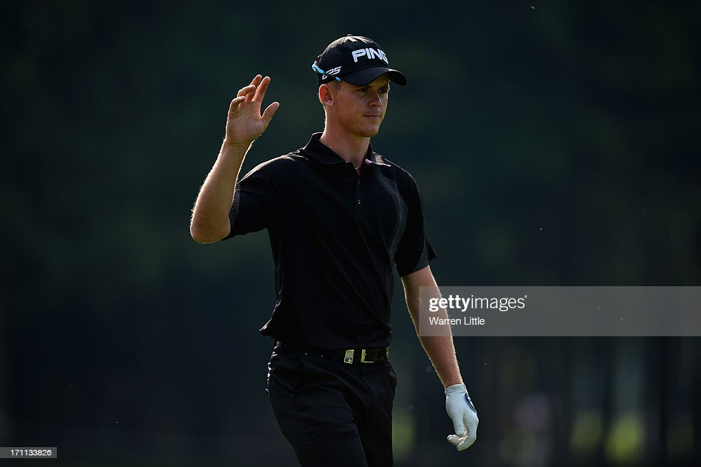 Brandon Stone of South Africa in action during the third round of the BMW International Open at Golfclub Munchen Eichenried on June 22, 2013 in Munich, Germany.