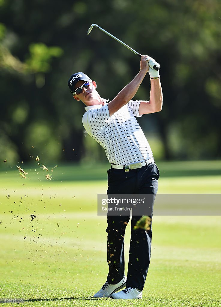 Brandon Stone of South Africa plays a shot during the first round of the Tshwane Open at Pretoria Country Club on February 11, 2016 in Pretoria, South Africa.