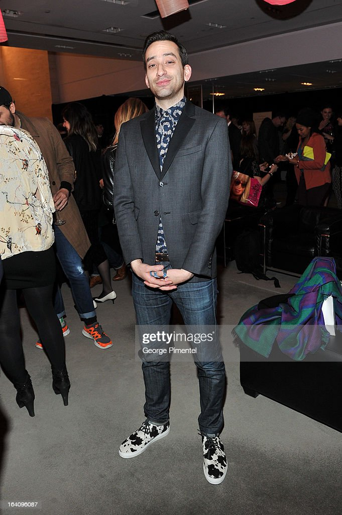 Brandon Svarc of Naked and Famous attends the Holt Renfrew opening night party on March 18, 2013 in Toronto, Canada.