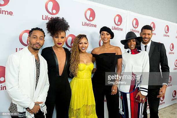 Brandon T Jackson Kellee Stewert Meagan Good Keri Hilson Kelly Rowland and Jeffrey BowyerChapman arrive for the Screening And Panel For Lifetime's...