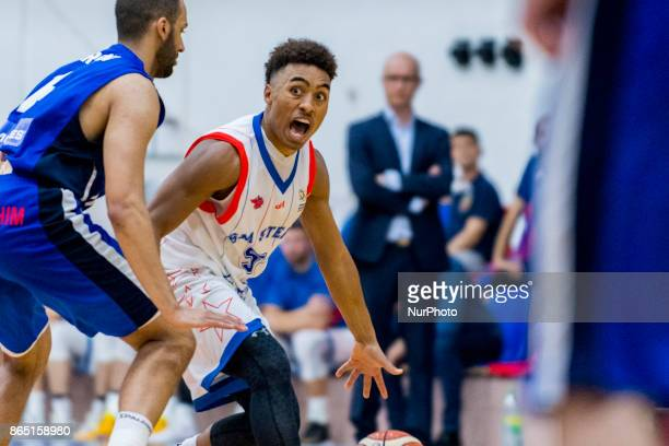 Brandon Taylor during the LNBM Men's National Basketball League game between CSM Steaua Bucharest and BC Mures TarguMures at Sala Regimentul de Garda...