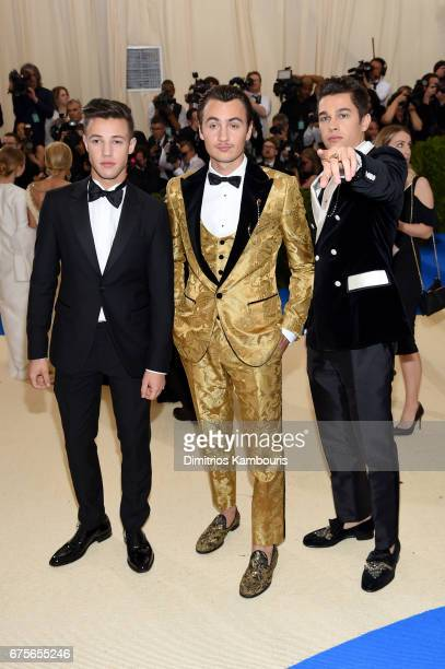Brandon Thomas Lee and Austin Mahone attend the 'Rei Kawakubo/Comme des Garcons Art Of The InBetween' Costume Institute Gala at Metropolitan Museum...
