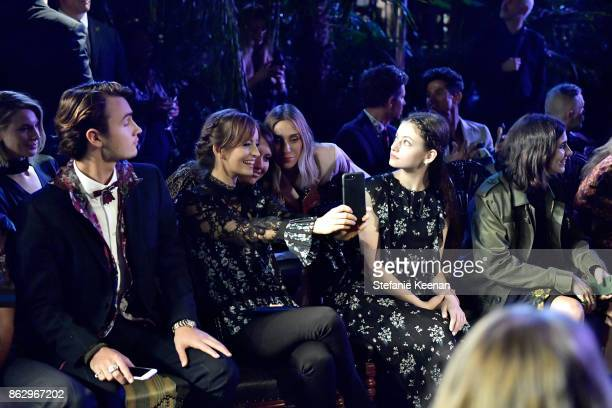 Brandon Thomas Lee guests and Mackenzie Foy at HM x ERDEM Runway Show Party at The Ebell Club of Los Angeles on October 18 2017 in Los Angeles...