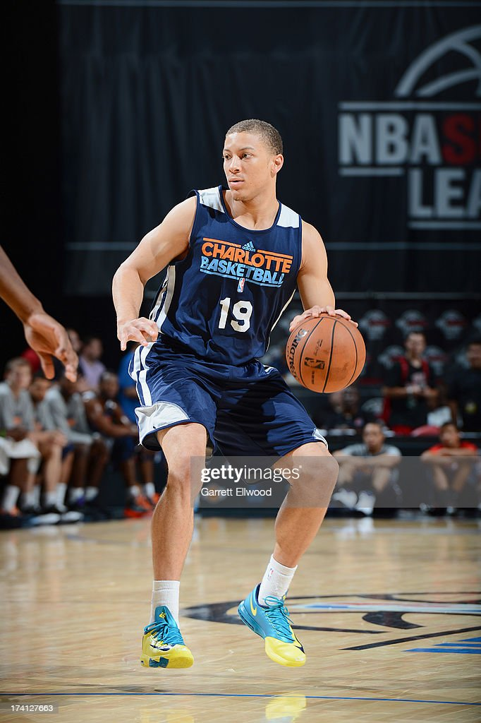 Brandon Triche #19 of the Charlotte Bobcats protects the ball during NBA Summer League game between the Charlotte Bobcats and the D-League Select Team on July 20, 2013 at the Cox Pavilion in Las Vegas, Nevada.