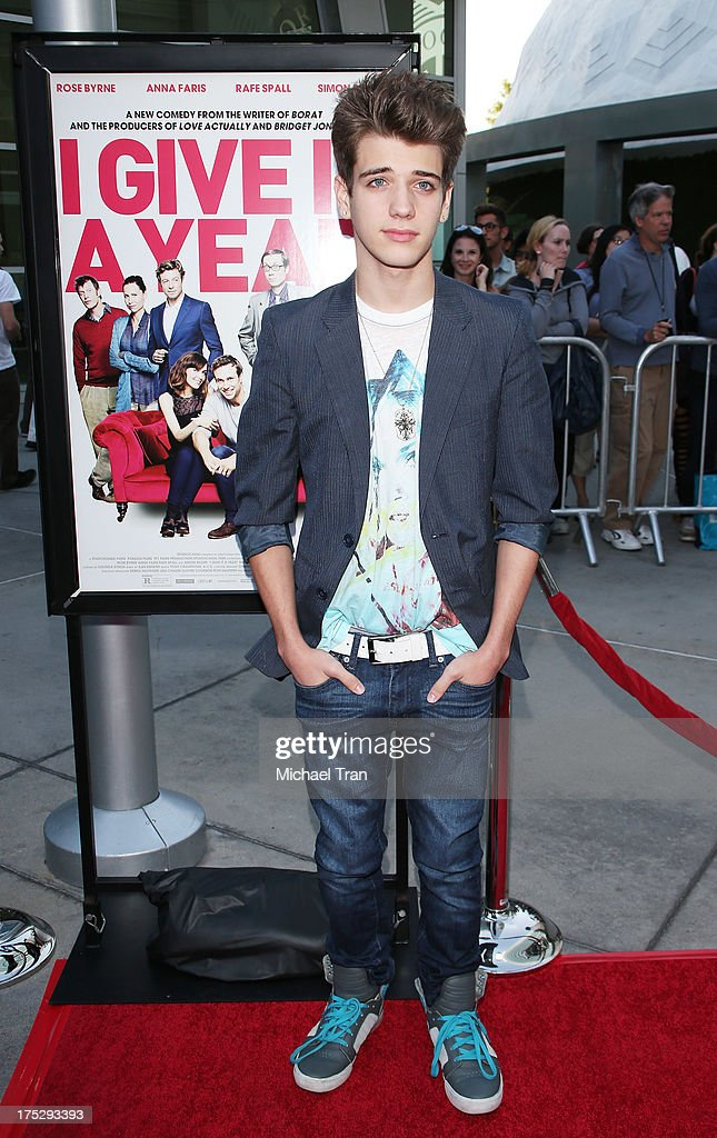 <a gi-track='captionPersonalityLinkClicked' href=/galleries/search?phrase=Brandon+Tyler+Russell&family=editorial&specificpeople=6680982 ng-click='$event.stopPropagation()'>Brandon Tyler Russell</a> arrives at a Los Angeles special screening of 'I Give It A Year' held at ArcLight Hollywood on August 1, 2013 in Hollywood, California.