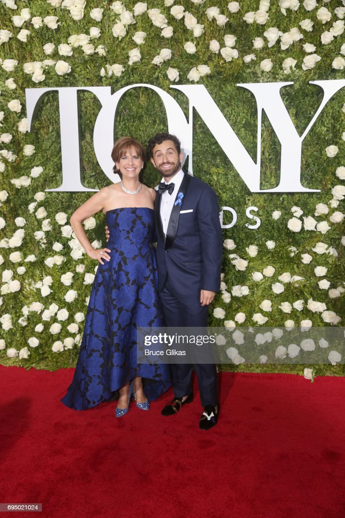 Brandon Uranowitz (R) attends the 2017 Tony Awards at Radio City Music Hall on June 11, 2017 in New York City.