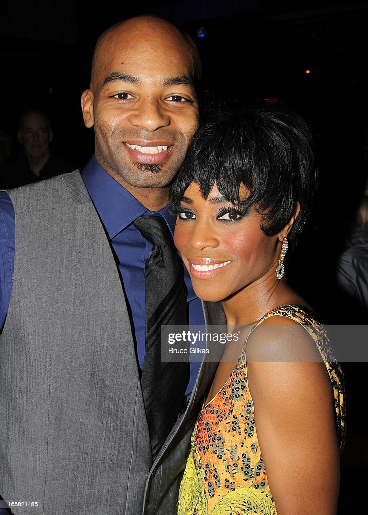 Brandon Victor Dixon and Valisia LeKae attend the 'Motown The Musical' Motown Family Night afterparty at the Edison Ballroom on April 5 2013 in New...