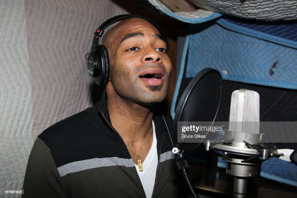 Brandon Victor Dixon attends Broadway's 'Motown:The Musical' Original Broadway Cast Recording Session at MSR Studios in Times Square on May 2, 2013 in New York City.