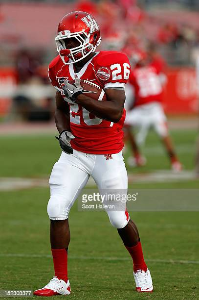 Brandon Wilson of the Houston Cougars is seen before the start of their game against the Texas State Bobcats at Robertson Stadium on September 1 2012...