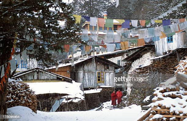 Brandong Chung women's monastery covered in snow