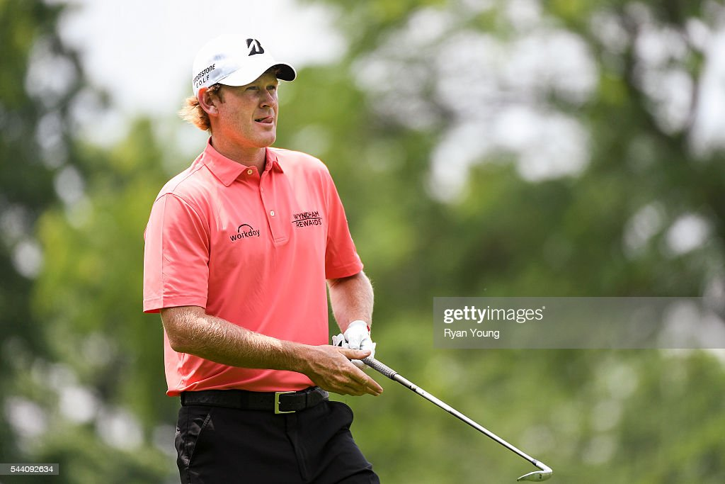 Brandt Sneaker prepares to hit a shot on the eighth hole during the second round of the World Golf Championships-Bridgestone Invitational at Firestone Country Club on July 1, 2016 in Akron, Ohio.