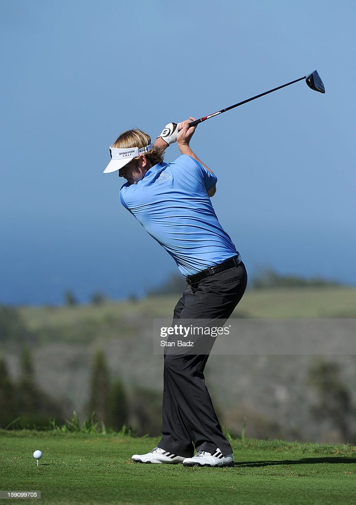 <a gi-track='captionPersonalityLinkClicked' href=/galleries/search?phrase=Brandt+Snedeker&family=editorial&specificpeople=2345049 ng-click='$event.stopPropagation()'>Brandt Snedeker</a> hits a drive on the 16th hole during the second round of the Hyundai Tournament of Champions at Plantation Course at Kapalua on January 7, 2013 in Kapalua, Maui, Hawaii.