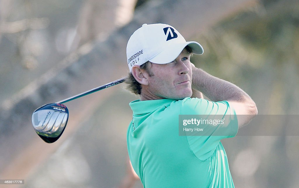 Brandt Snedeker hits his tee shot on the 14th hole during the final round of the ATT Pebble Beach National ProAm at the Pebble Beach Golf Links on...