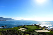 Brandt Snedeker lines up a putt on the seventh green during the third round of the ATT Pebble Beach National ProAm at the Pebble beach Golf Links on...