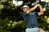 Brandt Snedeker of the United States plays the ball from the eleventh tee during round three of the 2016 RBC Canadian Open at Glen Abbey Golf Course...