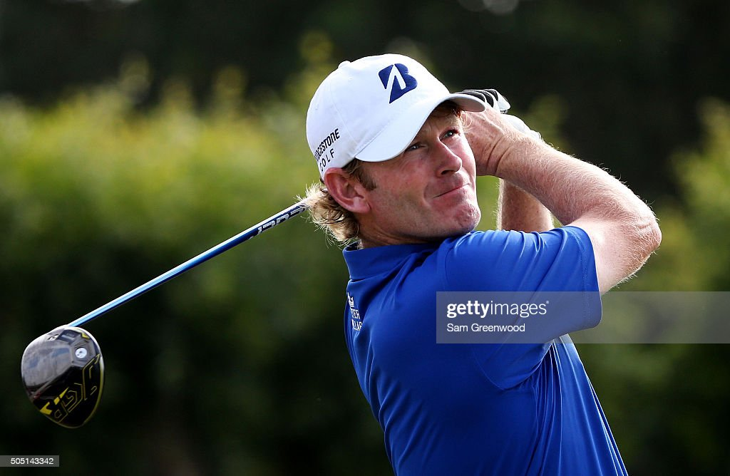 Brandt Snedeker plays his shot from the 16th tee during the second round of the Sony Open In Hawaii at Waialae Country Club on January 15, 2016 in Honolulu, Hawaii.
