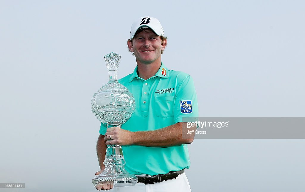 <a gi-track='captionPersonalityLinkClicked' href=/galleries/search?phrase=Brandt+Snedeker&family=editorial&specificpeople=2345049 ng-click='$event.stopPropagation()'>Brandt Snedeker</a> poses with the trophy after his three-stroke victory at the AT&T Pebble Beach National Pro-Am at the Pebble Beach Golf Links on February 15, 2015 in Pebble Beach, California.