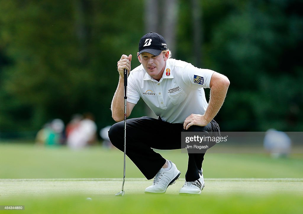 <a gi-track='captionPersonalityLinkClicked' href=/galleries/search?phrase=Brandt+Snedeker&family=editorial&specificpeople=2345049 ng-click='$event.stopPropagation()'>Brandt Snedeker</a> prepares to putt on the seventh hole during the first round of the Deutsche Bank Championship at the TPC Boston on August 29, 2014 in Norton, Massachusetts.