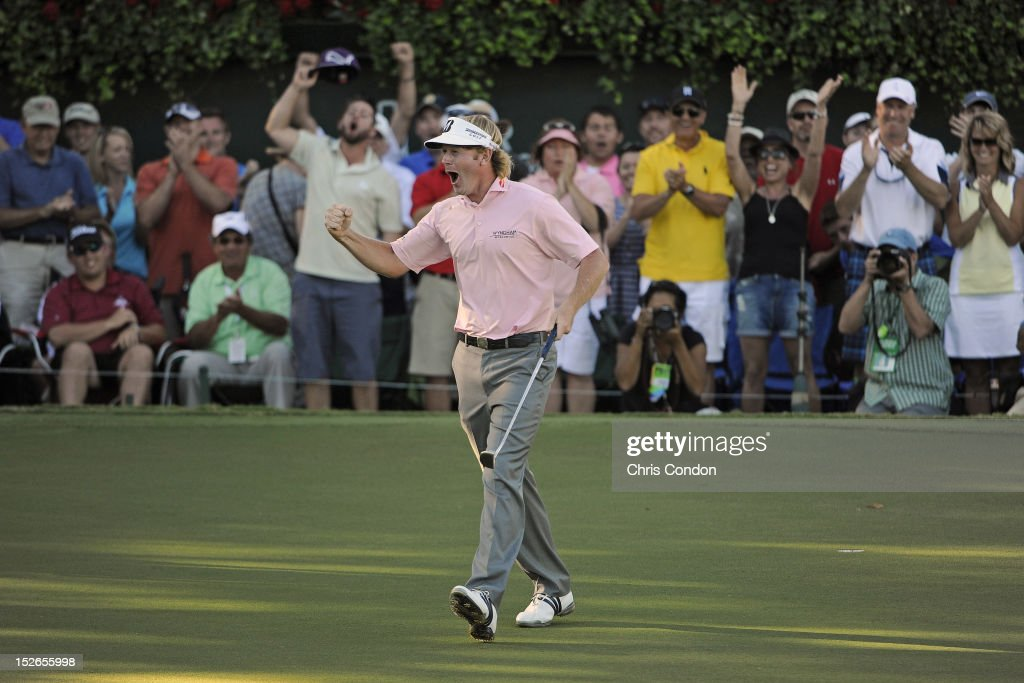 <a gi-track='captionPersonalityLinkClicked' href=/galleries/search?phrase=Brandt+Snedeker&family=editorial&specificpeople=2345049 ng-click='$event.stopPropagation()'>Brandt Snedeker</a> reacts after winning the FedExCup and the TOUR Championship by Coca-Cola, the final event of the PGA TOUR Playoffs for the FedExCup, at East Lake Golf Club on September 23, 2012 in Atlanta, Georgia.