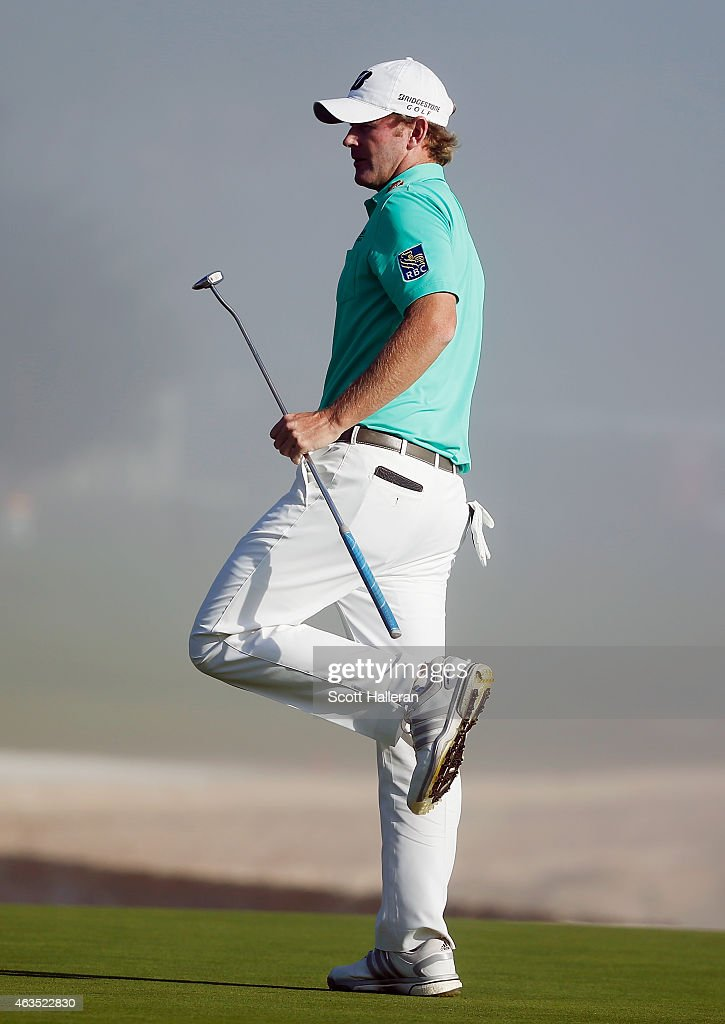 <a gi-track='captionPersonalityLinkClicked' href=/galleries/search?phrase=Brandt+Snedeker&family=editorial&specificpeople=2345049 ng-click='$event.stopPropagation()'>Brandt Snedeker</a> reacts to missing a birdie putt on the 18th green during the final round of the AT&T Pebble Beach National Pro-Am at the Pebble Beach Golf Links on February 15, 2015 in Pebble Beach, California.