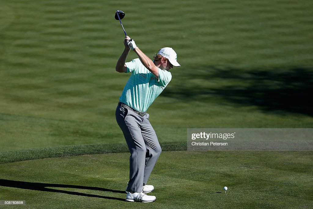 Brandt Snedeker tees off on the 17th hole during the third round of the Waste Management Phoenix Open at TPC Scottsdale on February 6, 2016 in Scottsdale, Arizona.