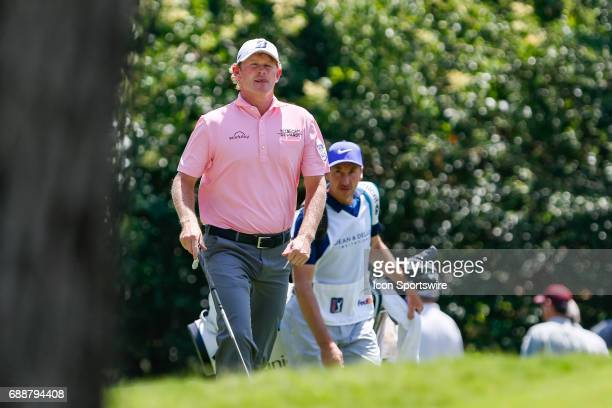 Brandt Snedeker walks up to the 8th green during the second round of the Dean Deluca Invitational on May 26 2017 at Colonial Country Club in Fort...