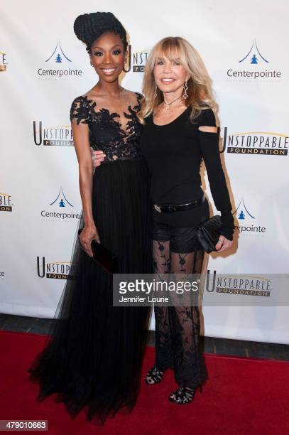 Brandy and actress Dyan Cannon attends the 5th Annual Unstoppable Gala held at the Hyatt Regency Century Plaza on March 15 2014 in Century City...