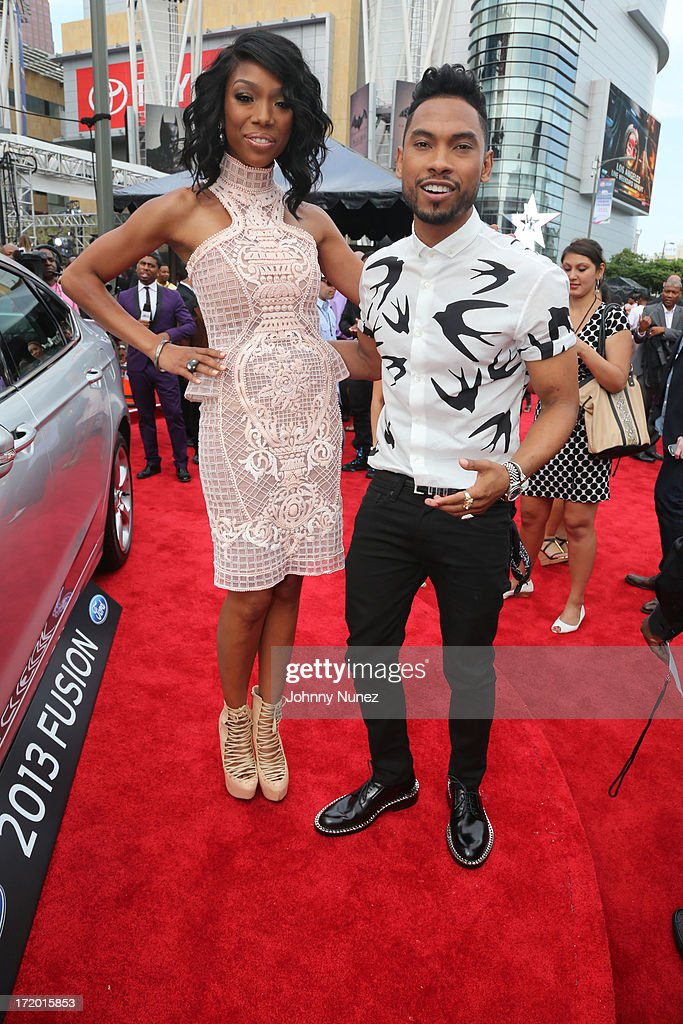 Brandy and Miguel attend 2013 BET Awards at Nokia Plaza L.A. LIVE on June 30, 2013 in Los Angeles, California.