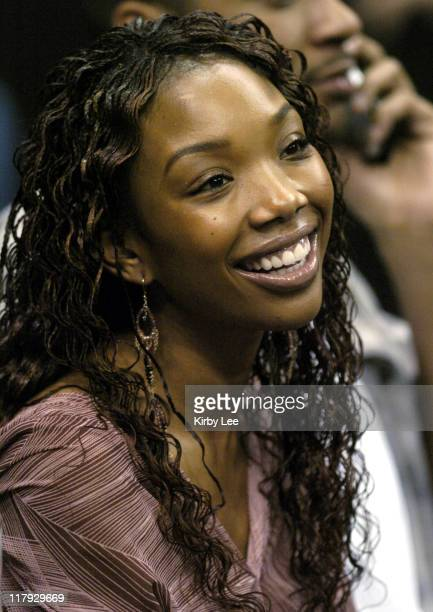 Brandy at Los Angeles Clippers game against the Utah Jazz at the Staples Center on Friday Jan 23 2004