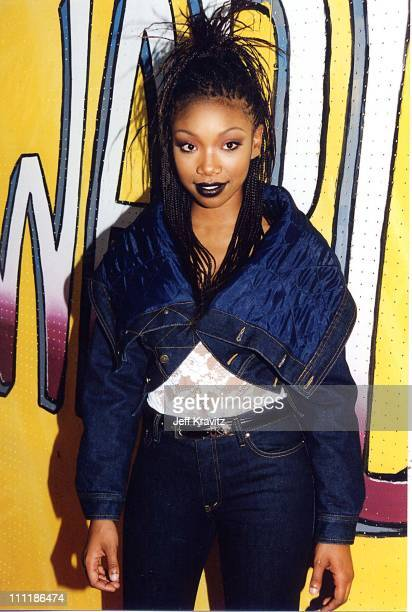 Brandy at the 1998 Lady of Soul awards in Los Angeles