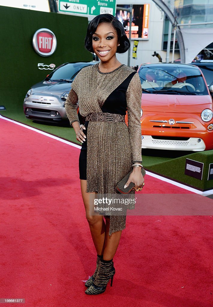 Brandy attends Fiat's Into The Green during the 40th American Music Awards held at Nokia Theatre L.A. Live on November 18, 2012 in Los Angeles, California.
