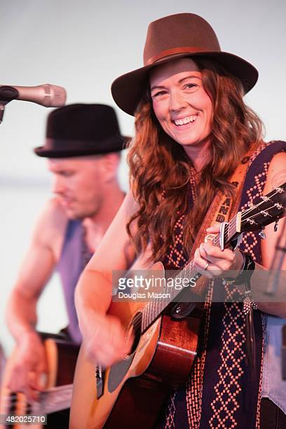 Brandy Carlile performs during the Newport Folk Festival 2015 at Fort Adams State Park on July 25 2015 in Newport Rhode Island