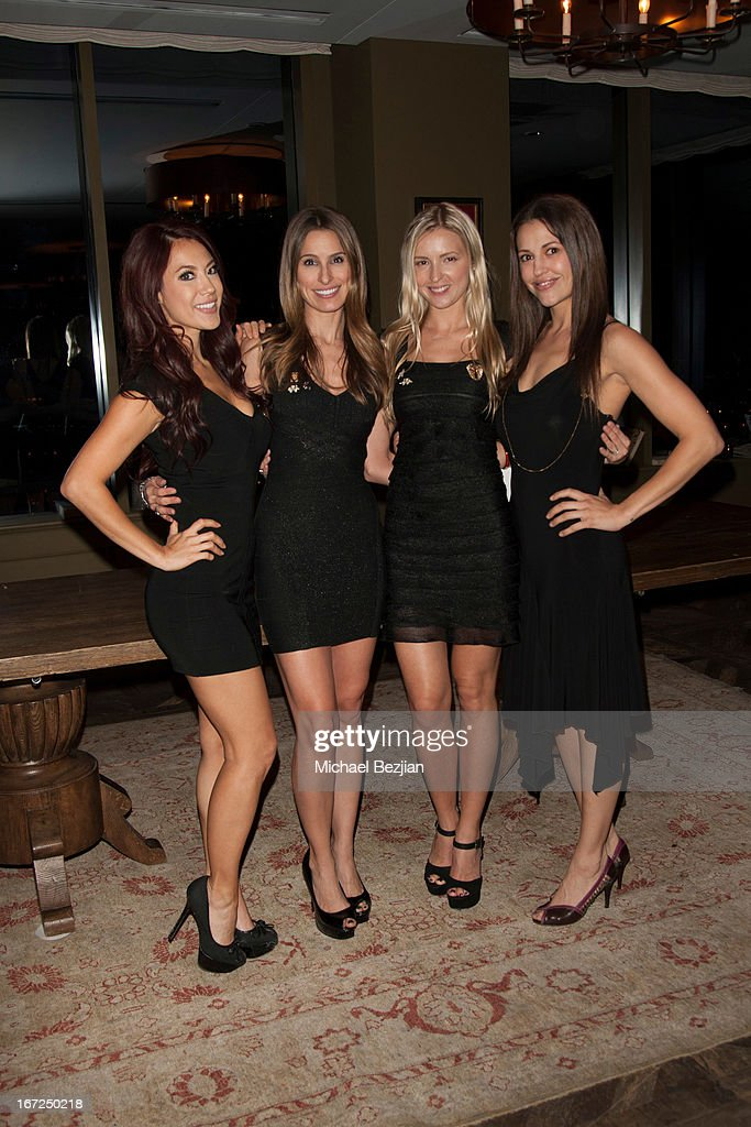 Brandy Grace, Kristen Brockman, Ella Pozdnyakova and Katya Dara attend Mutt Match LA Fundraiser at Soho House on April 22, 2013 in West Hollywood, California.