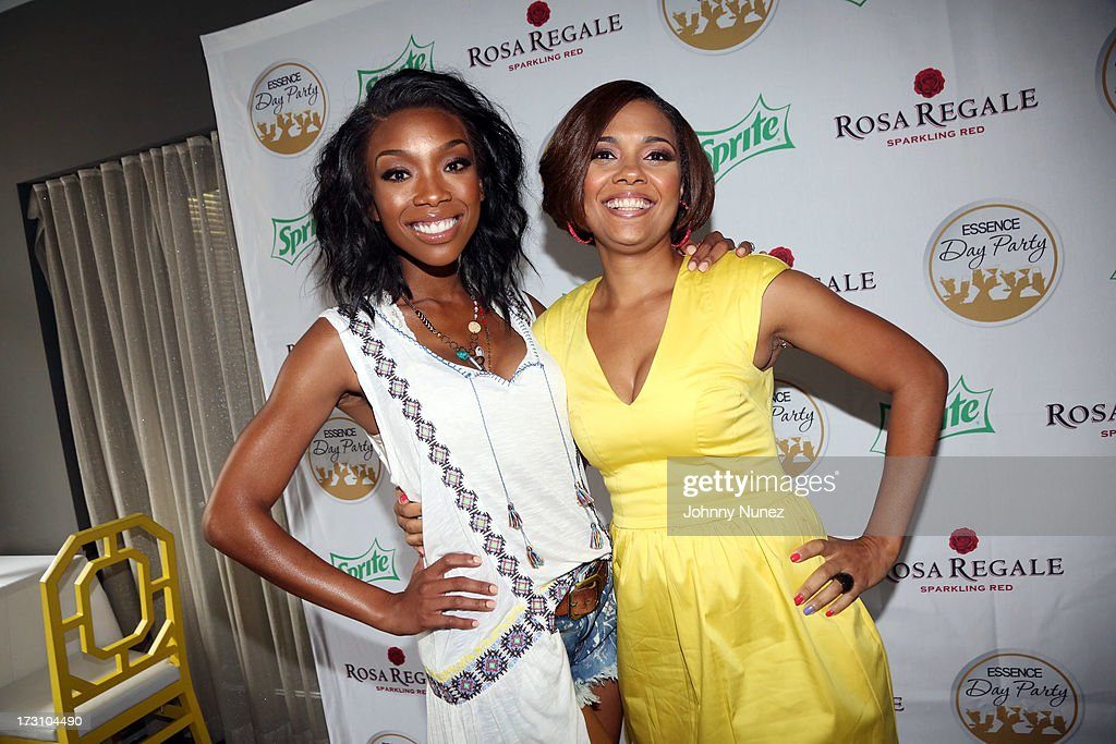 Brandy Norwood and Cori Murray attend the Essence Day party at the W New Orleans on July 6, 2013 in New Orleans, Louisiana.