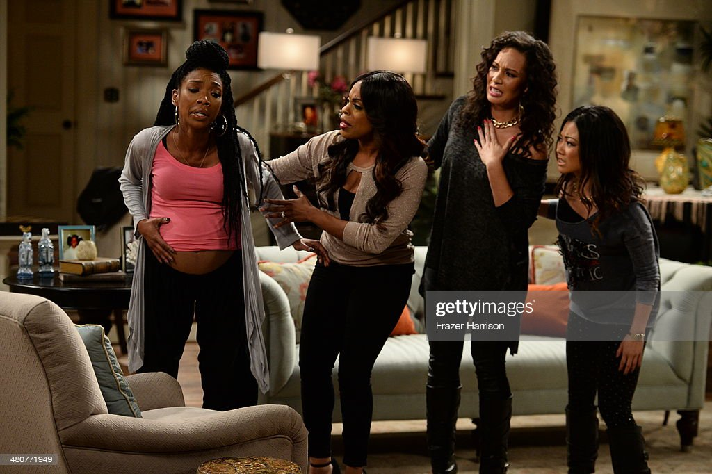 <a gi-track='captionPersonalityLinkClicked' href=/galleries/search?phrase=Brandy+Norwood&family=editorial&specificpeople=202122 ng-click='$event.stopPropagation()'>Brandy Norwood</a> (L) and <a gi-track='captionPersonalityLinkClicked' href=/galleries/search?phrase=Niecy+Nash&family=editorial&specificpeople=228464 ng-click='$event.stopPropagation()'>Niecy Nash</a> (2nd L) appear onstage during 'The Soul Man' LIVE! at the CBS Studio Center on March 26, 2014 in Studio City, California.