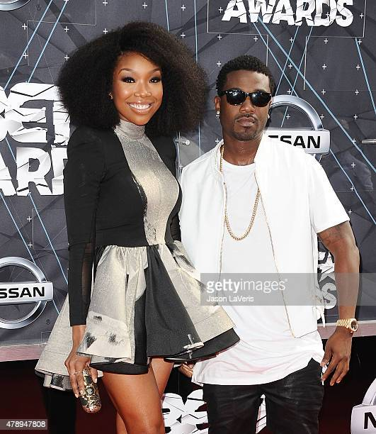 Brandy Norwood and Ray J attend the 2015 BET Awards at the Microsoft Theater on June 28 2015 in Los Angeles California