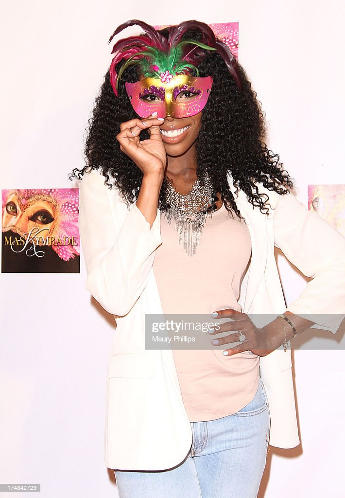 Brandy Norwood arrives at Kym Whitley's 40th Birthday Celebration at Rain Nightclub on July 23, 2013 in Studio City, California.