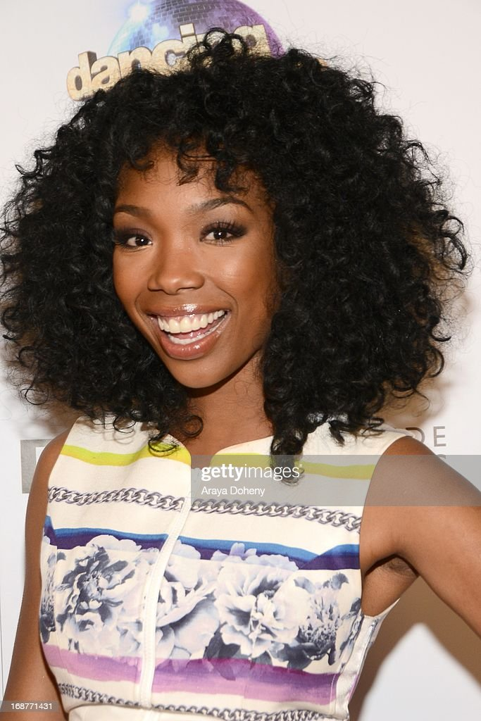 Brandy Norwood arrives at the 'Dancing With The Stars' 300th episode red carpet event on May 14, 2013 in Los Angeles, California.