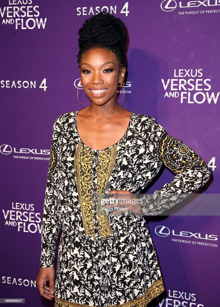 Brandy Norwood arrives at 'Verses And Flow' Season 4 taping presented by TV One at Siren Studios on May 8, 2014 in Hollywood, California.