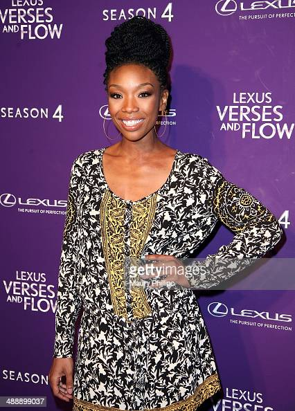 Brandy Norwood arrives at 'Verses And Flow' Season 4 taping presented by TV One at Siren Studios on May 8 2014 in Hollywood California