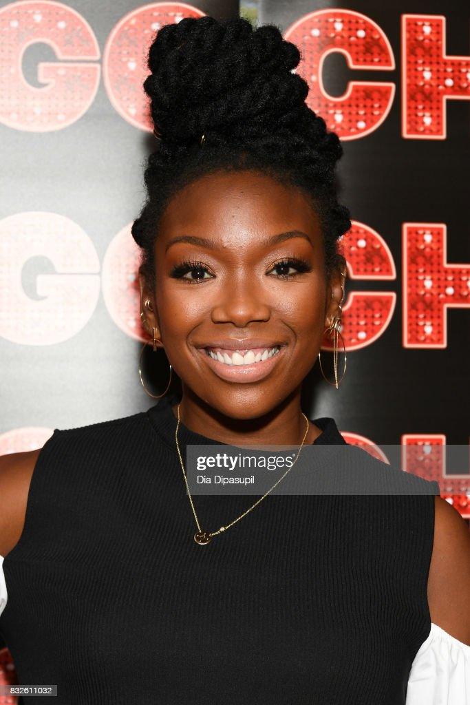 Brandy Norwood attends a press event for her return to Broadway's 'Chicago' at Sardi's on August 16, 2017 in New York City.