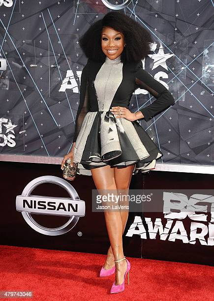 Brandy Norwood attends the 2015 BET Awards at the Microsoft Theater on June 28 2015 in Los Angeles California