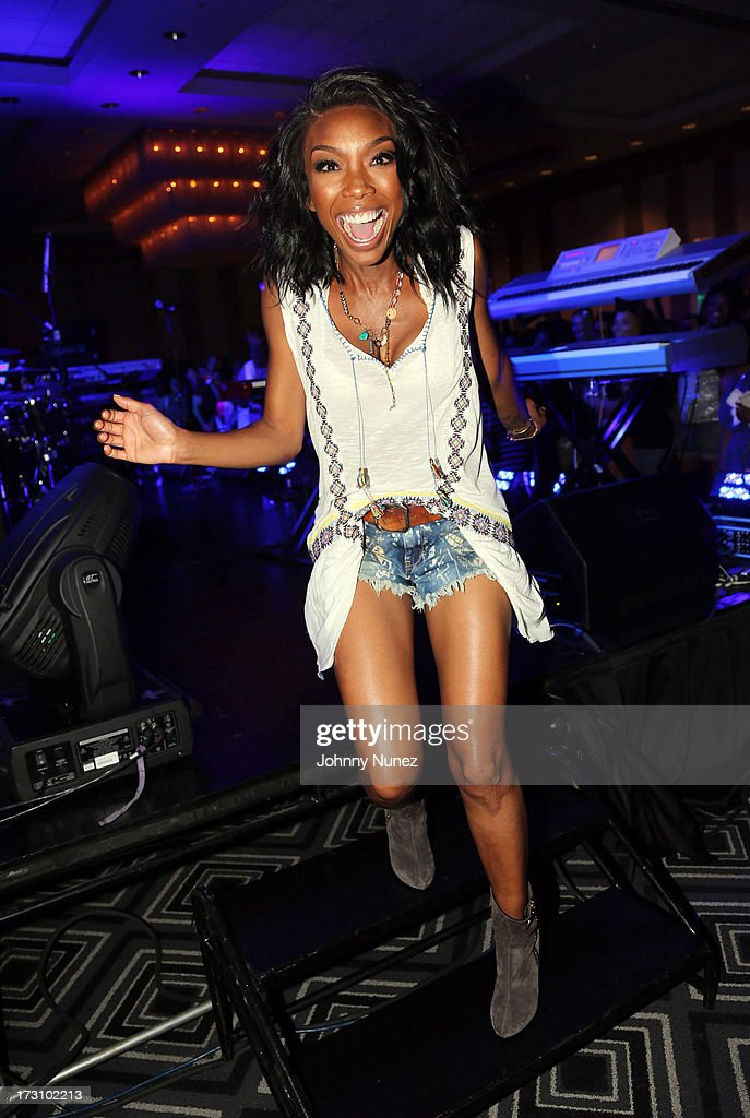 Brandy Norwood attends the Essence Day party at the W New Orleans on July 6, 2013 in New Orleans, Louisiana.