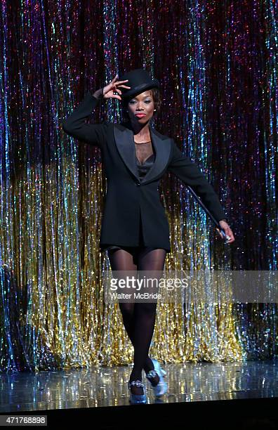 Brandy Norwood during her official opening night Broadway debut as Roxie Hart in 'Chicago' on Broadway at The Ambassador Theater on April 30 2015 in...