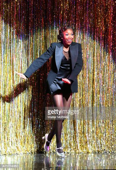 Brandy Norwood during her official opening night Broadway debut as ÒRoxie HartÓ in 'Chicago' on Broadway at The Ambassador Theater on April 30 2015...