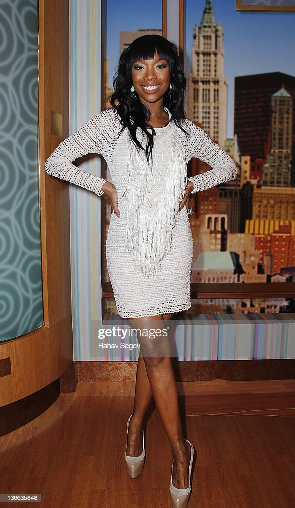 Brandy Norwood of 'The Game' visits 'The Wendy Williams Show' at The Wendy Williams Show Studio on January 9 2012 in New York City