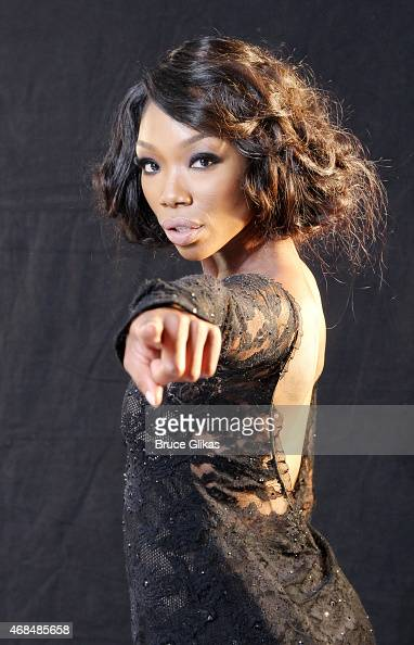 Brandy Norwood prepares for her Broadway debut as 'Roxie Hart' in 'Chicago' with an ad photoshoot at Splashlight Studios on April 2 2015 in New York...